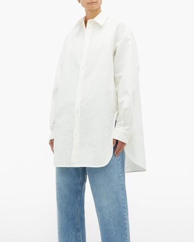 Oversized Drop-Shoulder Cotton-Blend Shirt