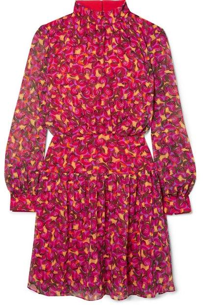 Isabel B Printed Silk-Georgette Mini Dress