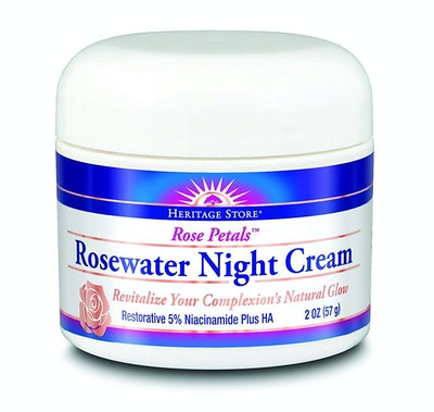 Heritage Store Rose Petals Rosewater Night Cream