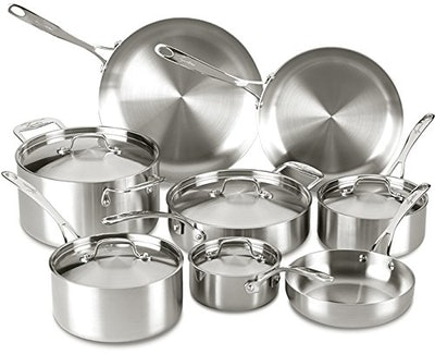 Lagostina 13-Piece Tri-Ply Stainless Steel Cookware Set