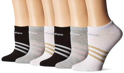 Adidas Women's Superlite No-Show Socks (6-Pack)