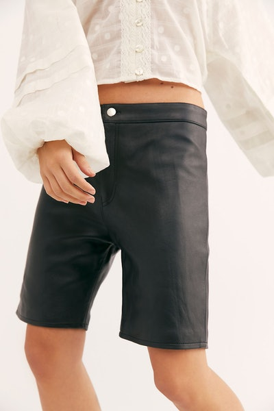 Hailey Leather Slim Shorts