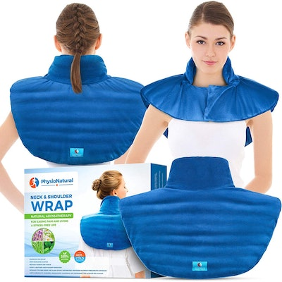 PhysioNatural Large Microwaveable Neck and Shoulder Wrap