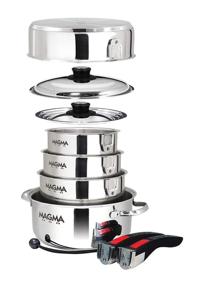 Magma Products 10-Piece Nesting Stainless Steel Cookware Set