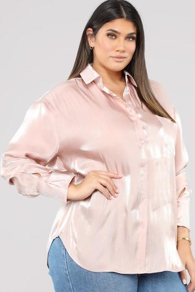 Rose Metallic Date Night Shirt