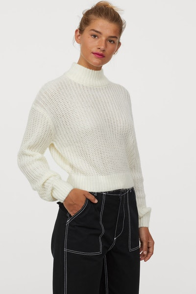 Knit Stand-up-collar Sweater