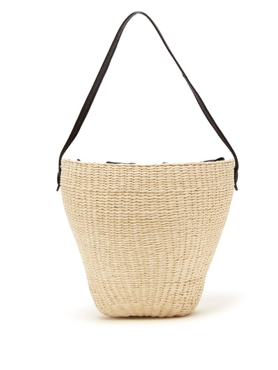 Woven Toquilla Straw Basket Bag