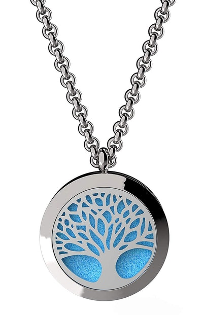 mEssentials Tree of Life Essential Oils Diffuser Necklace Set
