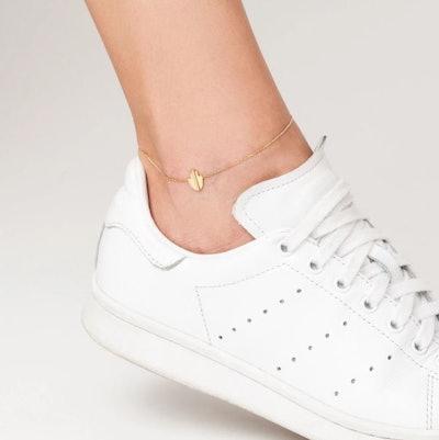 Geometric Hamsa Anklet