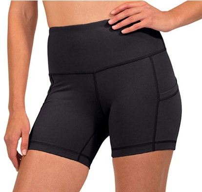 90 Degree By Reflex High Waist Power Flex Yoga Shorts