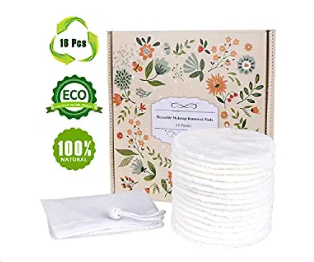 Topoint Reusable Makeup Remover Pads (16 Pack)