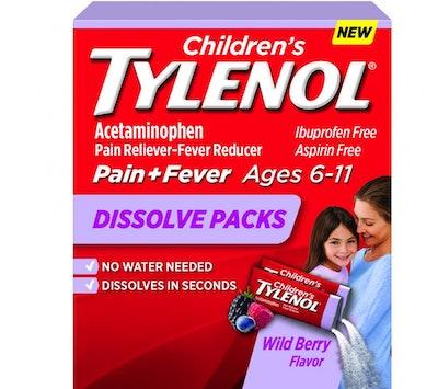 Children's Tylenol Dissolve Packs 18 pk