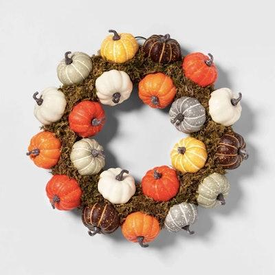 Harvest Pumpkin Decorative Wreath