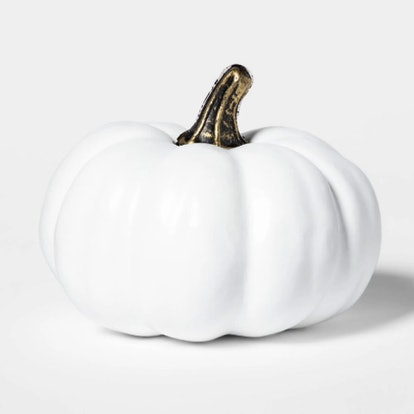 Mini White Halloween Pumpkin
