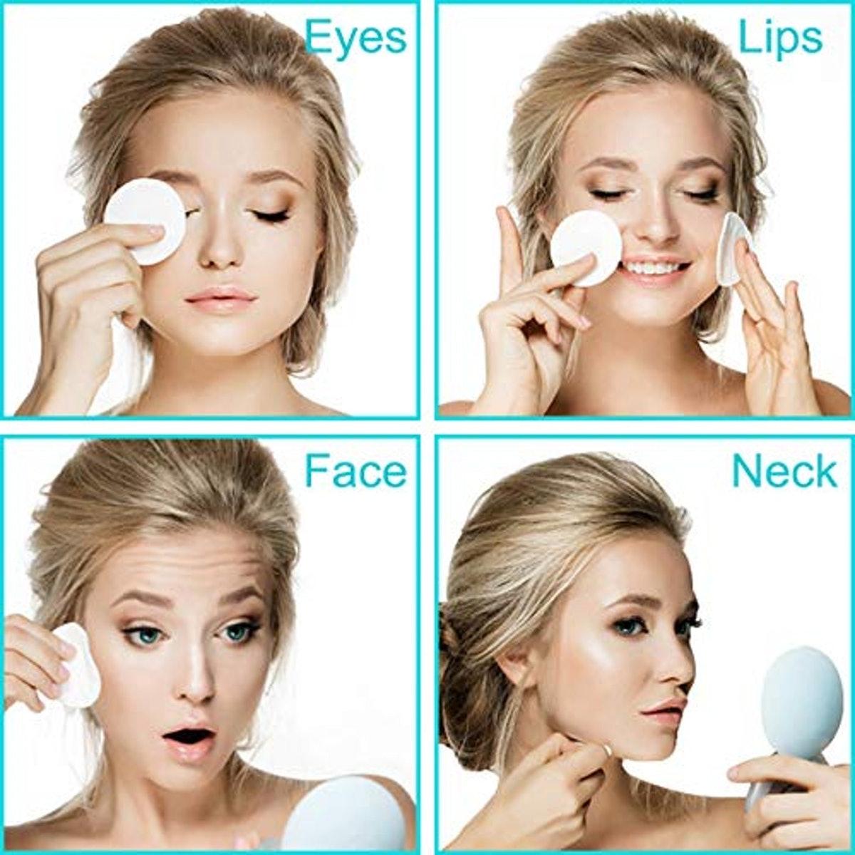 Wegreeco Reusable Bamboo Makeup Remover Pads (16-Pack)