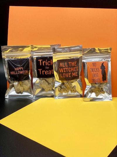 Individual Halloween Dog Treat Packs