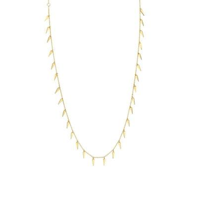 Pure Yellow Gold Multi Fringe Necklace