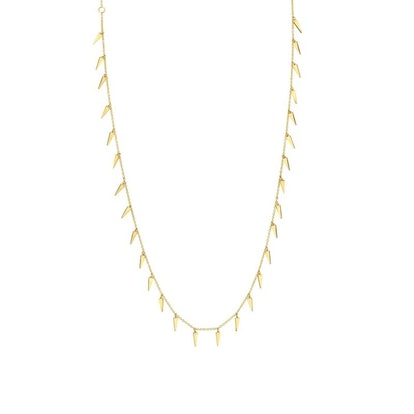 Pure Yellow Gold Multi Fringe Necklace