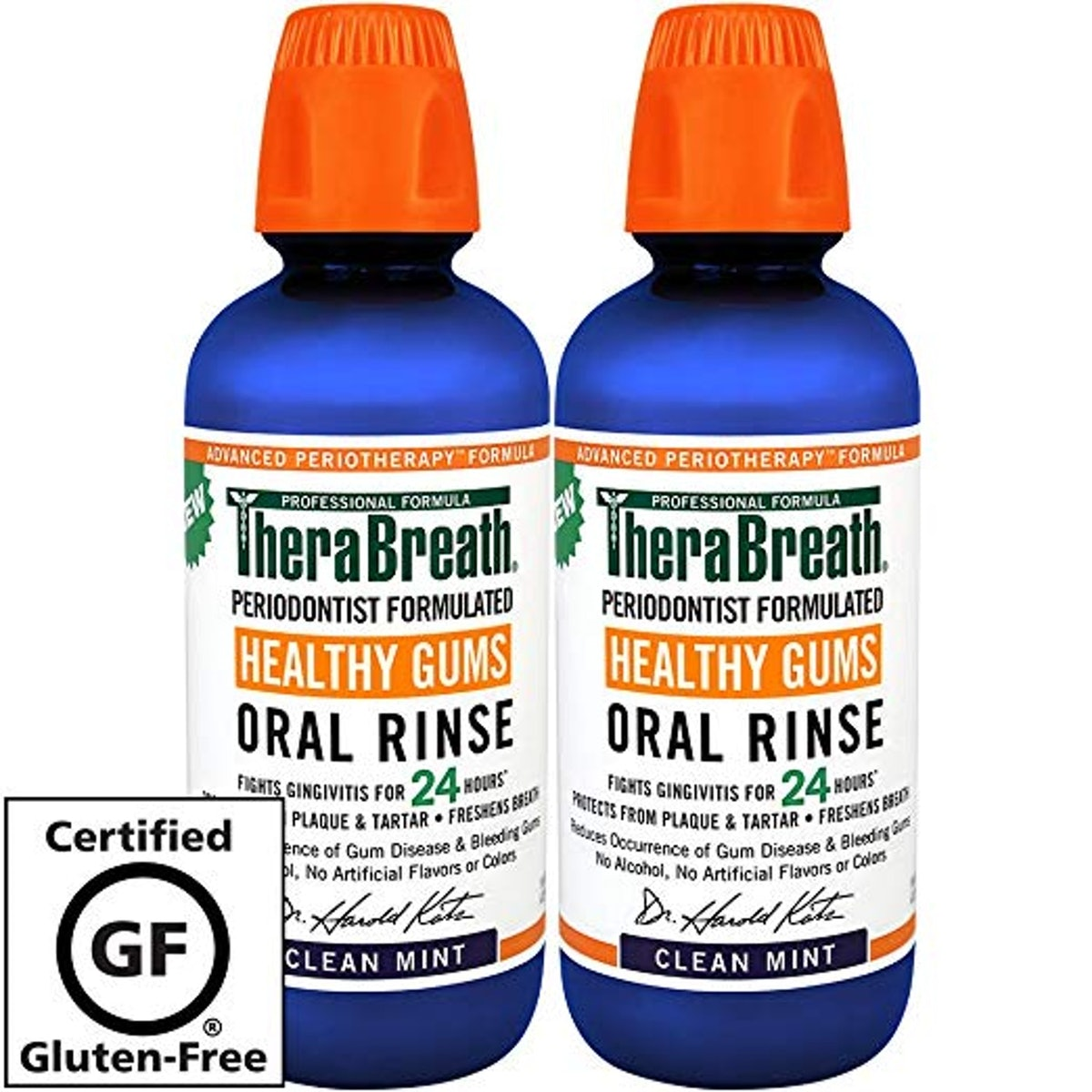 TheraBreath 24-Hour Periodontist Formulated Oral Rinse (2-Pack)
