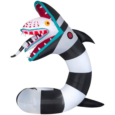 9.5 ft. Pre-Lit Inflatable Animated Beetlejuice Sandworm WB Airblown