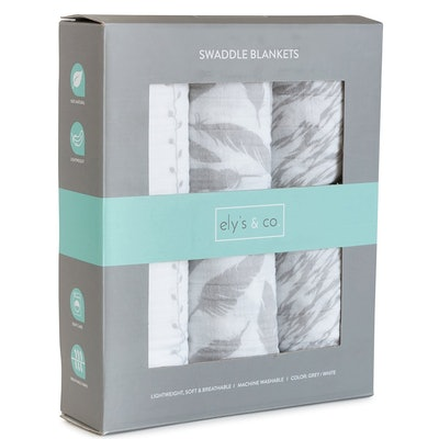 Cotton Muslin Swaddle Blankets (3-Pack)