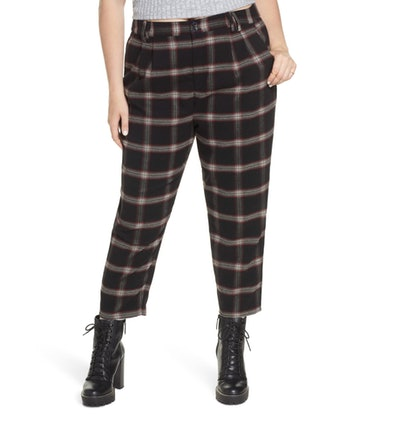 BP x Claudia Sulewski Plaid Menswear Crop Pants