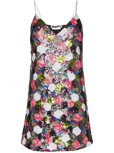 Sequin Patchwork Mini Dress