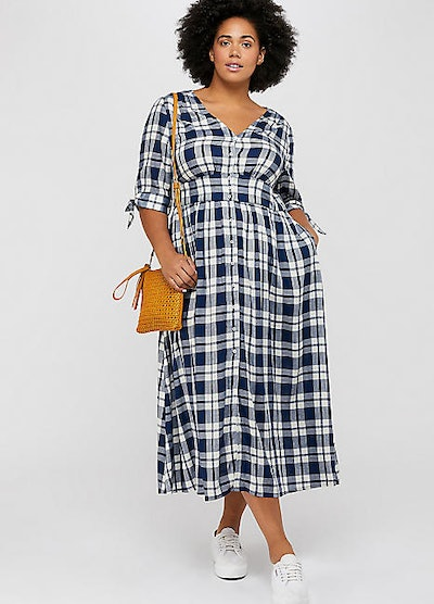 Monsoon Curve Dolly Check Dress