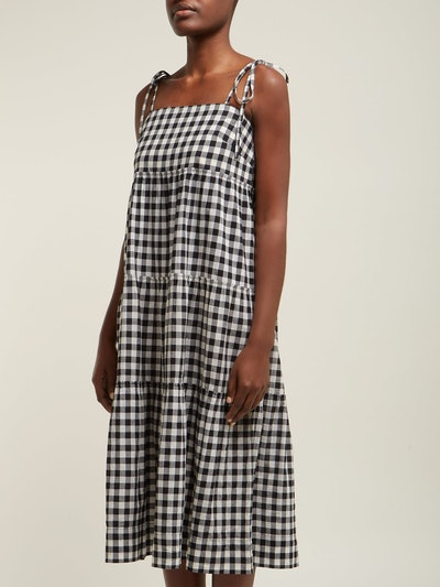 Sally Gingham Midi Dress