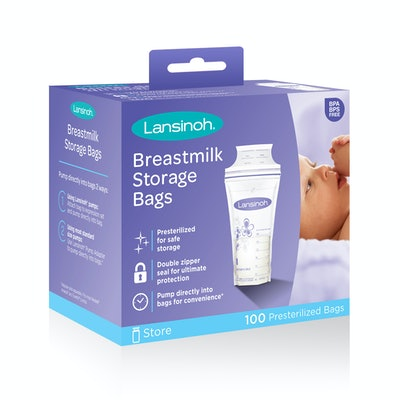 Lansinoh Breast Milk Storage Bags, 100 Count