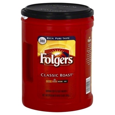 Folgers Classic Roast Ground Coffee, 48-Ounce (2 Pack)