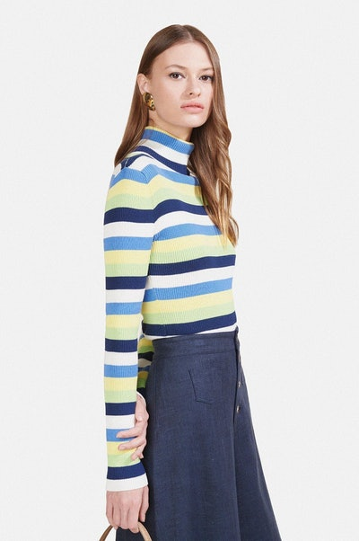 Ken Turtleneck - Coastal Daffodil Stripe