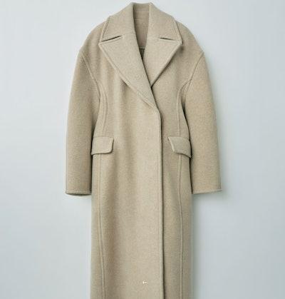Sculptural Coat Beige Melange