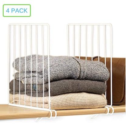 Xabitat Closet Shelf Divider (4-Pack)