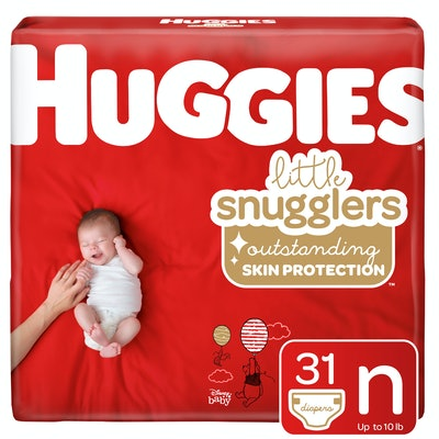 HUGGIES Little Snugglers Diapers, Size Newborn (128 Count)
