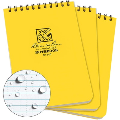 Rite In The Rain Weatherproof Spiral Notepad