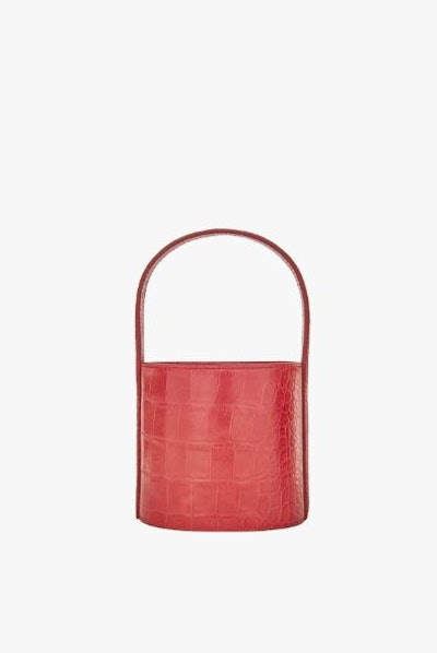 Mini Bissett Bag - Tomato Croc Embossed