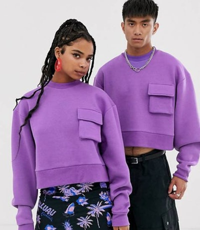 Collusion Unisex Cropped Sweatshirt