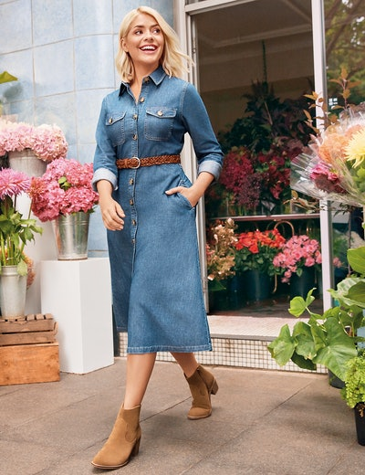 Denim Shirt Midi Dress