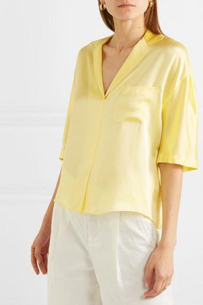 Silk-Satin Shirt