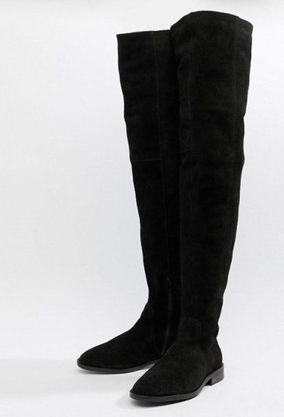 ASOS DESIGN Kerria suede thigh high boots