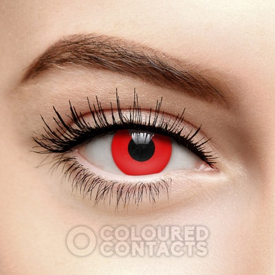Red Blood Halloween Colored Contacts (Daily)