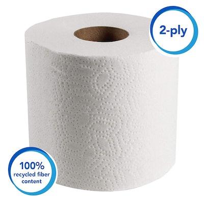 Scott Essential Professional 100% Recycled Fiber Bulk Toilet Paper (2-Ply, 80 Rolls)