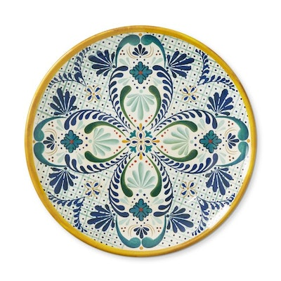 Veracruz Outdoor Melamine Dinner Plates, Yellow (set of 4)