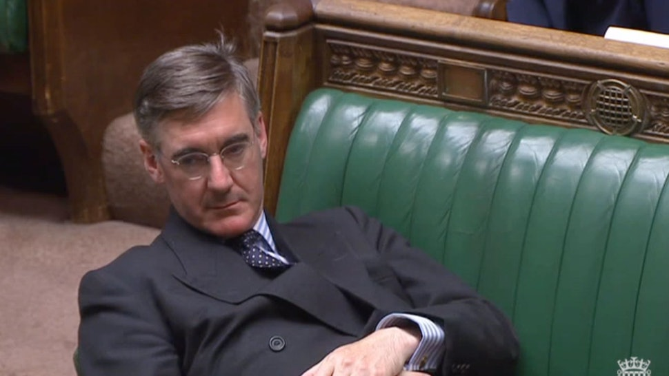 Jacob Rees-Mogg Lay Horizontal During A Crucial House Of
