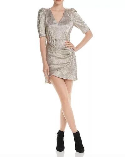 Judy Metallic Ruched Dress