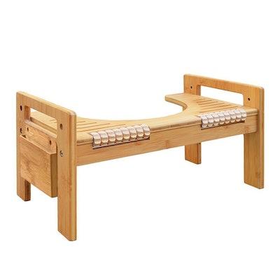 MallBoo Adjustable Bamboo Squatting Stool
