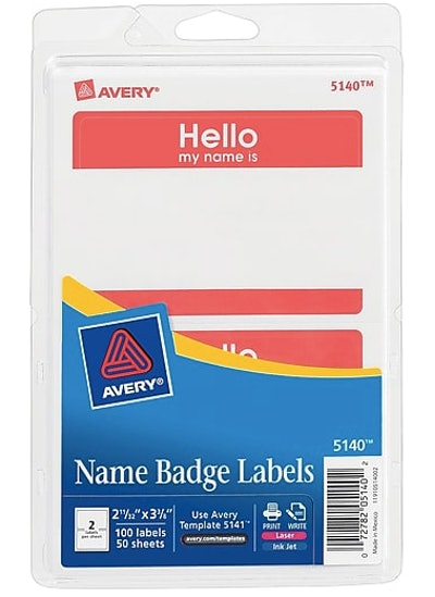 Avery Sticker Name Tags