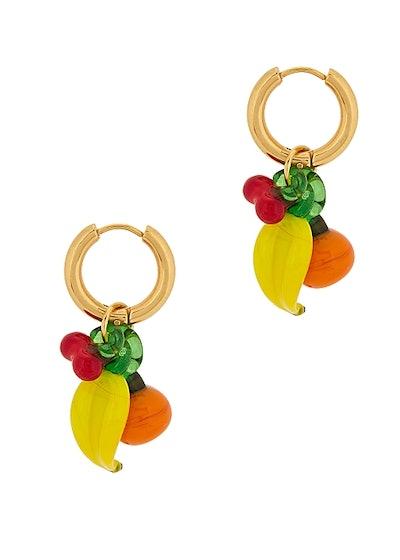 Groceries Gold-Plated Hoop Earrings