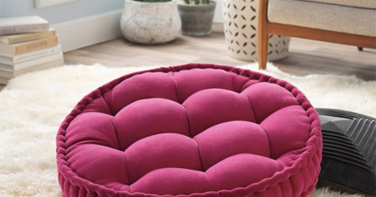 10 Floor Pillows & Poufs For Under $100 That'll Add Extra Seating In Your Space Without Taking Up Too Much Real Estate